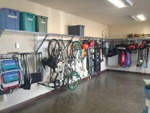 Garage storage systems / overhead storage / cabinets / closets