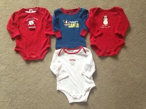 Christmas Themed Onesies, 3-6 months - $10