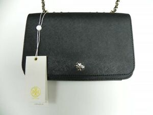 Brand New Tory Burch Purse Black Leather Cross-Body Bag $425US