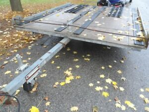 Snowmobile or ATV Trailer, Tows Very Well, Tilt Bed