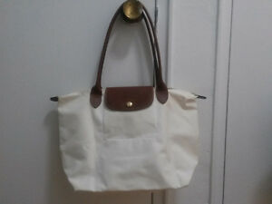 "Longchamp Le Pliage medium tote,14""x10"",long handles ."
