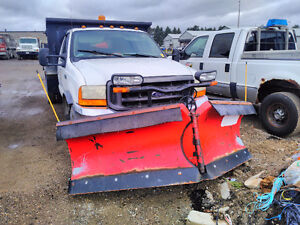 2000 Ford F550 Dump & Plow Truck Stratford Kitchener Area image 2