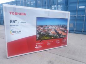 TV 65INCH BRAND NEW TOSHIBA SMART 4K ULTRA HD HDR WITH BLUETOOTH ALEX