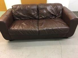 Two Seater Sofa! Braun Leather!