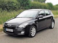 59 reg HYUNDAI I30 STYLE 1.6 CRDi DIESEL 5 DOOR HATCHBACK, Black, Manual