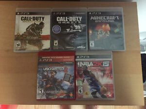 Lot de 5 jeux PS3