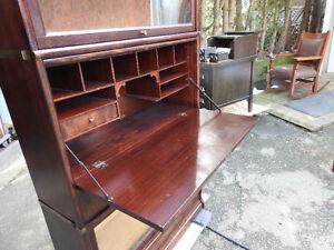 antique mahogany barrister bookcase with secretary desk built in Oakville / Halton Region Toronto (GTA) image 3