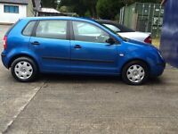 Vw polo 2005 1.2 , 6 month warranty 12months mot