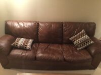 Uber comfy leather couch - great condition!