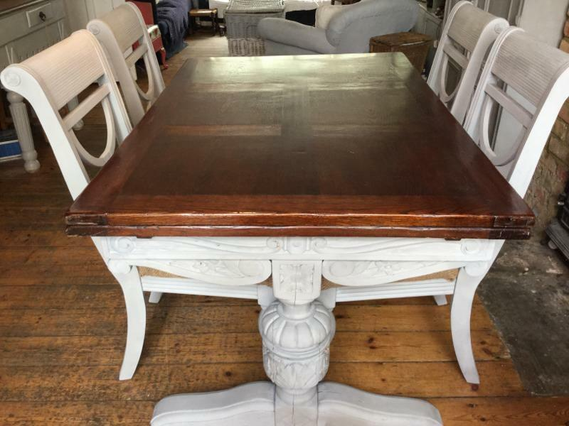 Shabby chic dining table and 4 chairs united kingdom gumtree