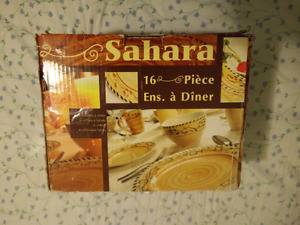 16 pcs Dinner set, almost new in box
