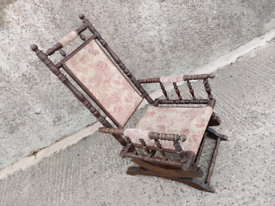 LOVELY ORIGINAL OLD ROCKING CHAIR