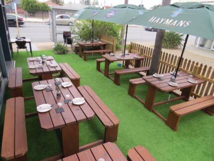 8 Seater Table Setting Outdoor Garden Bench Set Picnic Table