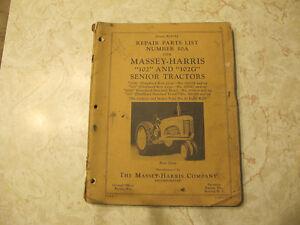 Massey Harris 102, 102G Senior Tractors Parts Manual