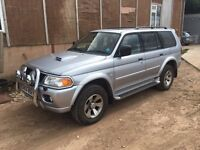2005 MITSUBISHI SHOGUN SPORT 2.5 TD EQUIPPE SPARES OR REPAIRS