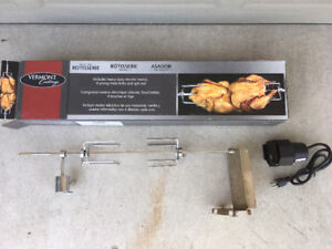 BBQ Rotisserie Vermont Castings in like new condition in box.