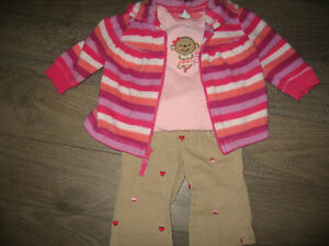 Girl's 3/6 months (old navy)sweater (Carters)onsie (Oshkosh)pant