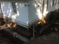 **Concrete and drains**underpinning**