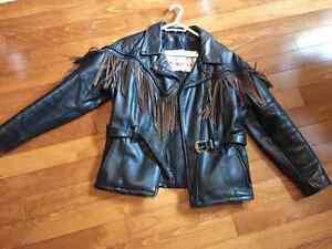 Manteau de moto Angora