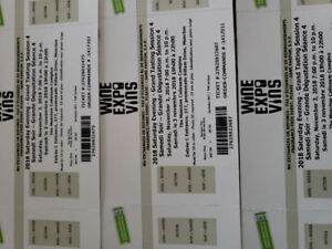 Winefest tickets for sold out Saturday night