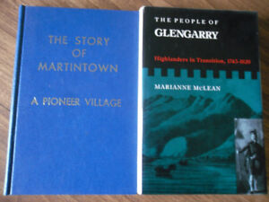 local history - Glengarry County - Martintown - FREE SHIPPING