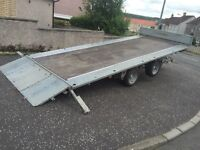 Ifor williams tilt bed trailer car transporter