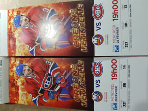 Montreal Canadiens vs New York Islanders 321BB Center Whites