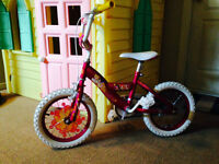 Girls 12 inch princess bicycle