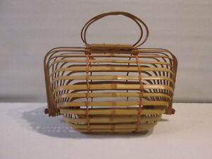 Sacoche bamboo vintage