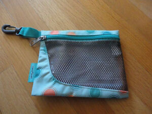 Brand new set of 2 Jansport green polka dot pencil cases pouch London Ontario image 2