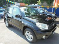 2004 54 TOYOTA RAV4 2.0 VVTI XT3 IN BLACK # 5 DOOR 4X4 MODEL #