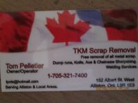 TKM SCRAP REMOVAL AND MORE ALLISTON /AREA