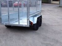 8x4 builders trailer with mesh sides galvanised (not ifor williams nugent mcm hudson indespension)