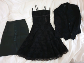 Ladies dress with blazer size 8 and leather skirt size 8