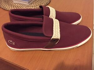 New Lacoste shoes (maroon color) $50