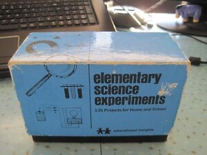 Vintage Set Elementary Science Experiments 135 Home Projects