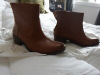 """WOMEN'S """"BARETRAPS"""" BOOTIES WITH FREE NEW LEATHER SANDALS!!"""
