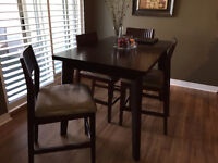 Contemporary Expandable Dining Table and Chairs