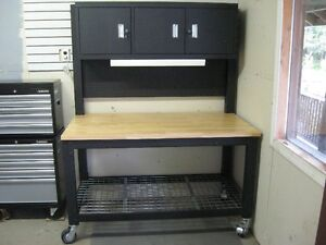 Heavy Duty workbench and Husky Tool cabinet