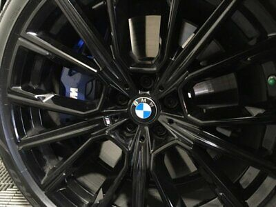 "BMW OEM G11 G12 G14 G15 G16 F91 F92 817M 20"" Jet Black M Star Spoke Wheels New"