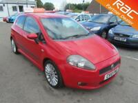 2010 Fiat Grande Punto Hatch 3Dr 1.4T-Jet 120 Sporting Petrol red Manual