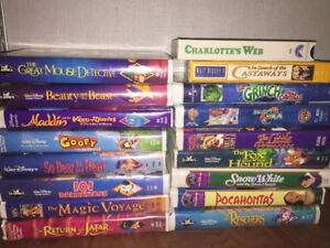SEVERAL DISNEY ON VHS TAPES