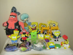 FOR SALE A LOT OF SPONGEBOB TOYS AND BOOKS