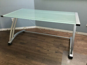 Glass Top Desk For Sale