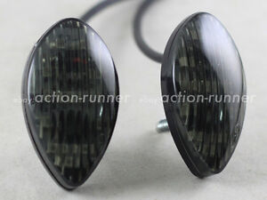 Motorcycle-Flush-Mount-12x-SMD-LED-Turn-Signals-Indicators-Smoke