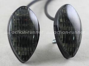 Motorcycle-Flush-Mount-12x-SMD-LED-Turn-Signals-Indicators-Smoke