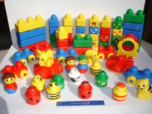 lot of 60 authentic LEGO PRIMO blocks vehicles & people for baby