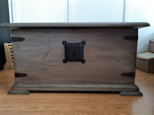 Antique inspired chest coffee table