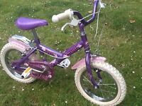 "Kids bike - Princess Dawes bike 14"" in very good and clean condition"