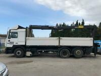 Left hand drive MAN 26.463 crane lorry, Manual pump and injectors, With Crane